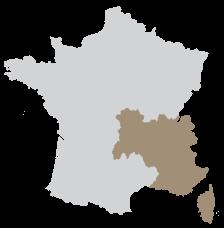 Région Auvergne Rhône Alpes, Provence Alpes Côte d'Azur, Corse