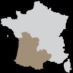 Région sud-ouest Nouvelle Aquitaine et Occitanie